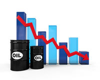 Oil Prices Dropping Illustration Stock Image