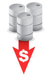 Oil prices going down Royalty Free Stock Photography