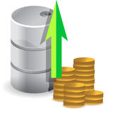 Oil prices increasing illustration design concept Stock Photography
