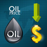 Oil prices industry Royalty Free Stock Images