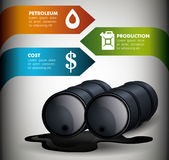 Oil prices infographic design Royalty Free Stock Images