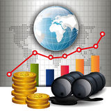 Oil prices infographic design Stock Image