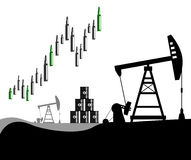 Oil prices rising Royalty Free Stock Photography