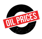 Oil Prices rubber stamp Stock Photos