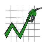 Oil prices up illustration Royalty Free Stock Photo