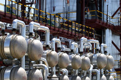 Oil processing plant Royalty Free Stock Image