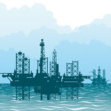 The oil-producing platforms Stock Images