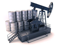 Oil production Royalty Free Stock Image
