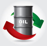 Oil production chart Royalty Free Stock Photography