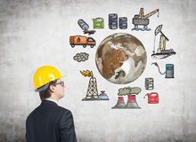 Oil production, environmental pollution Royalty Free Stock Photos