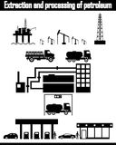 Oil production equipment vector Stock Image