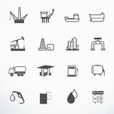 Oil Production icon vector illustration Royalty Free Stock Image