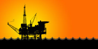 Oil production Royalty Free Stock Photo