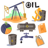 Oil Production Infographic Elements Royalty Free Stock Photos