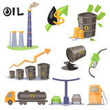 Oil Production Infographic Elements Stock Photos