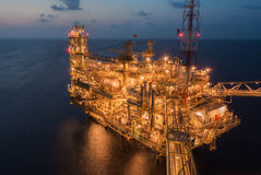 Oil production platform Stock Image