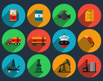 Oil production set vector Royalty Free Stock Images