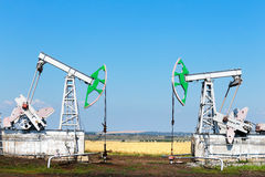 Oil production Royalty Free Stock Photos