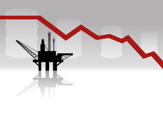 Oil production. Vector sign. Oil production. Business concept stock illustration