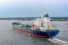 Oil products tanker in ballast Stock Image