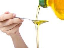 Oil Pulling / Swishing Stock Photo