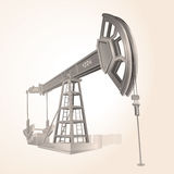 Oil pump. Detailed illustration of isolated oil pump-(vector available Stock Image