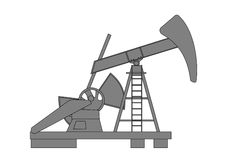 Oil pump. A illustration of oil pump Royalty Free Stock Images