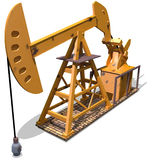Oil pump. Yellow oil pump on a break floor Royalty Free Stock Photos