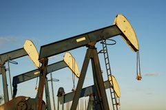 Oil Pump. S in storage in the Texas Panhandle Stock Image
