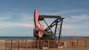 Oil pump stock footage