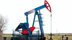 Oil pump. In work on oil fields,video clip stock footage