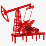 Oil pump. Red oil pump 3d illustration vector illustration
