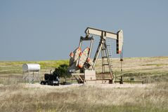 Oil Pump. An oil pump in the Texas Panhandle Stock Photography