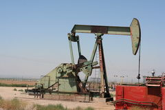 Oil pump. In a field in California Stock Images