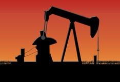 Oil pump stock illustration
