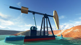 Oil pump in Alasca Stock Photography