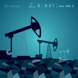 Oil pump backgrounds with icon. Vector oil pump backgrounds with a icon. Templates for infographics royalty free illustration