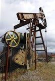 Oil pump in the Carpathian Mountains Stock Photos