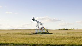 Oil pump. On chink in the field Stock Photo