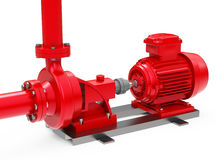 The oil pump. 3d generated picture of an oil pump stock illustration