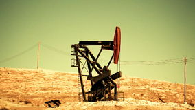 Oil Pump in the Desert Stock Photos