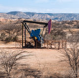 Oil Pump in the Desert, Peru Stock Image