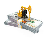 Oil Pump and Dollars Royalty Free Stock Photo