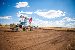 Oil pump in the field Stock Image