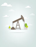 Oil pump. This is file of EPS10 format Royalty Free Stock Photo