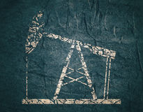 Oil pump grunge icon