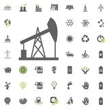 Oil pump icon. Eco and Alternative Energy vector icon set. Energy source electricity power resource set vector. Oil pump icon. Eco and Alternative Energy vector Royalty Free Stock Image