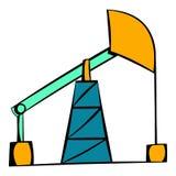 Oil pump icon, icon cartoon Stock Photos