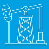 Oil pump icon, outline style Royalty Free Stock Images