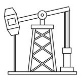 Oil pump icon, outline style Stock Image